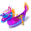 Purple Dragon Boat